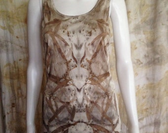 Eco Dyed Silk Tank Size- L - Iron Kaleidoscope