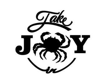 Take Joy In Crab Decal