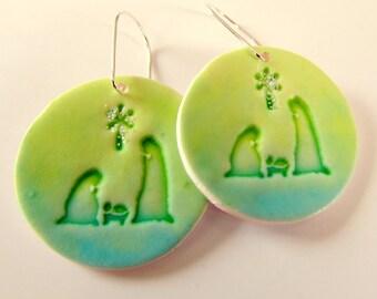 Nativity Earrings - Christmas Earrings - Handmade in Australia - Sterling Silver Ear Wires - Sensitive - Nativity Scene - Custom Earrings