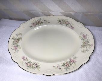 On SaLE! Vintage Homer Laughlin Platter Marigold Shape 1940s