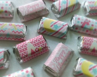 Glamping Girls Miniature Candy Bar Wrappers