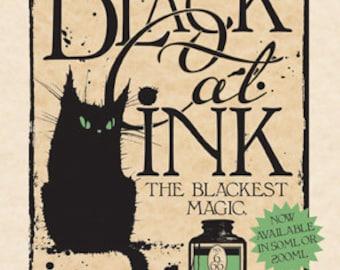Black Cat Ink greetings card