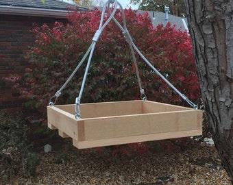 Hanging Cedar Platform Bird Feeder, Platform Squirrel Feeder