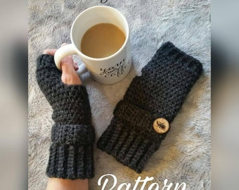 Crochet Fingerless Gloves Pattern, Fingerless Gloves Pattern, Fingerless Gloves, PDF File, Wrist Warmer Pattern, Fingerless Mitts Pattern