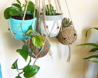 Twine Plant hangers - perfect for kokedama and pots