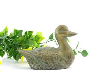 Vintage Duck Figurine - Brass Duck Figurine - Brass Duckling - Duckling Figurine - Duck Paperweight - Collectible Duck - Duck decor