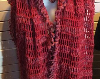 Handcrochet Wool Long Scarf.