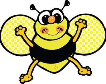 Cute Bumble Bee embroidery design
