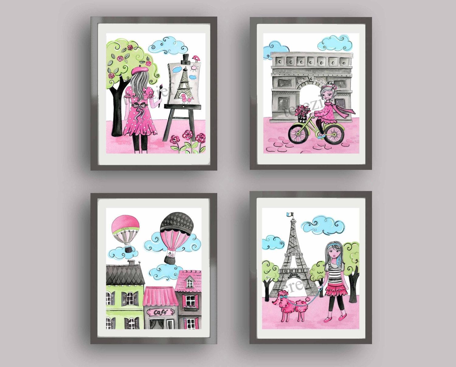 Paris bedroom decor Paris art prints paris nursery art