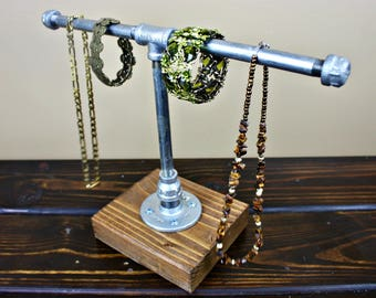 Watch Holder. Industrial Jewelry Display. Jewelry Organizer. Pipe Jewelry Holder. Jewelry Rack. Industrial Pipe Jewelry Stand. Industrial.