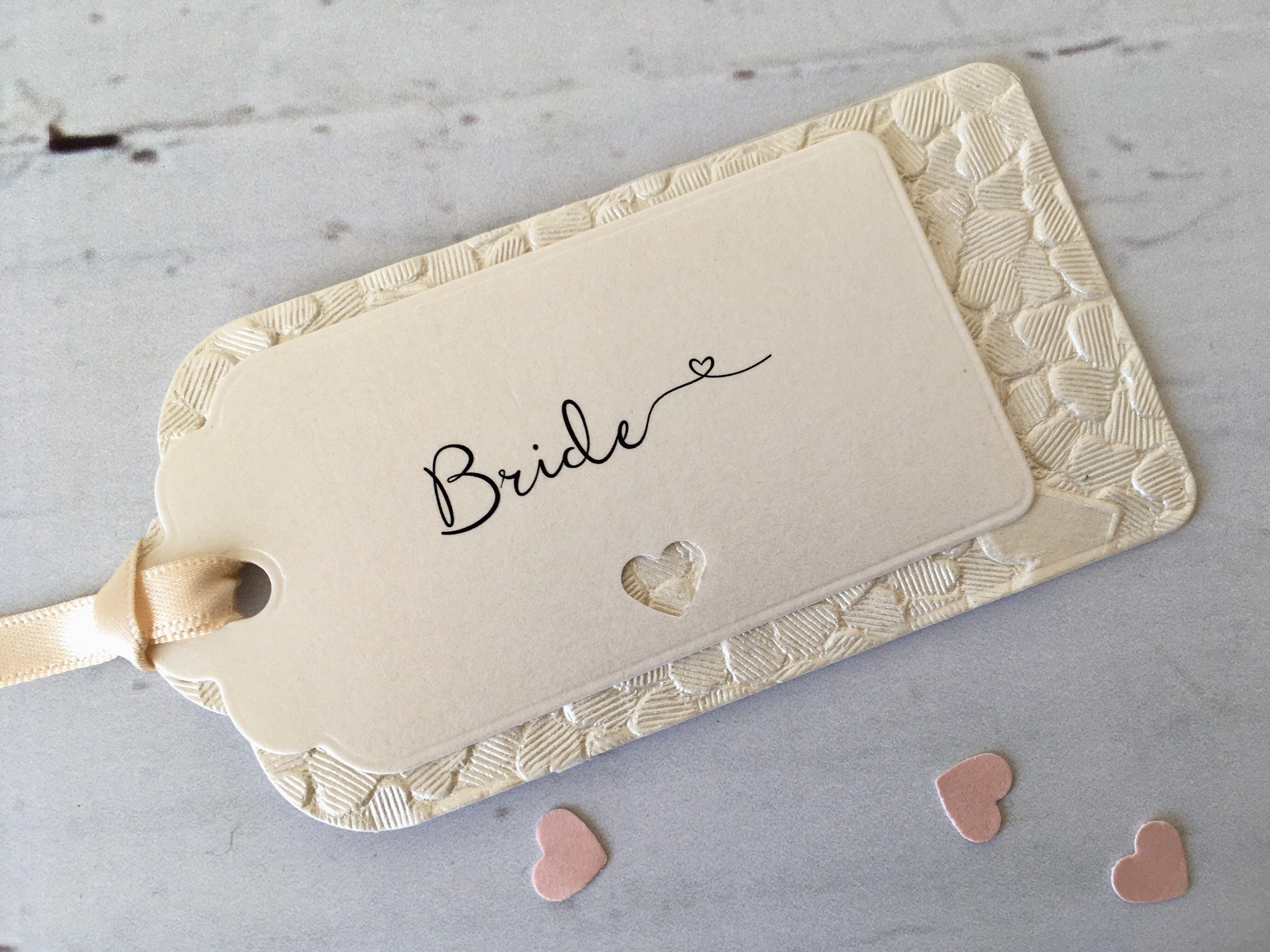 Luxury Hand-Made Ivory Embossed Wedding Label