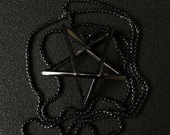 Black PENTACLE necklace