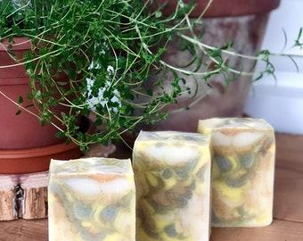 Garden Fresh Soap, All Natural Soap, Exfoliating Soap, Essential Oil Soap, Aromatherapy Soap, Scrub Soap, Herbal Soap, All Natural, Spring