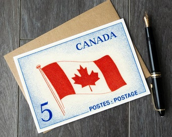 Canadian Flag, Canada Flag, Canada birthday cards, Canadian Christmas Cards, Canada retirement cards, Canadian sympathy cards, get well soon