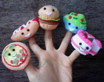Food finger puppets