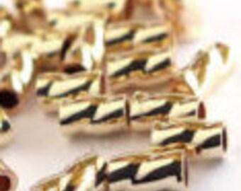 Gold Filled Twist Crimp Tube, Package of 20