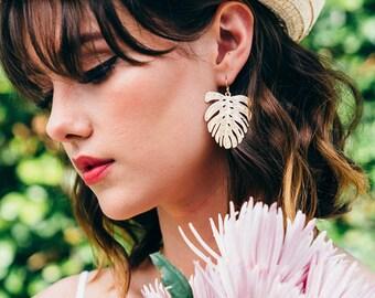Gold Dangle Earrings | Palm Tree Earrings