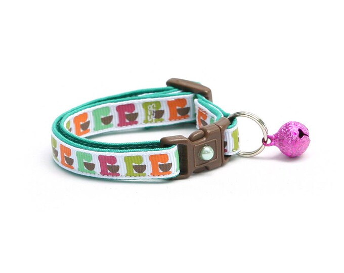 Baker Cat Collar - Kitchen Mixers - Cupcake Baking Cook Chef- Kitten or Large Size