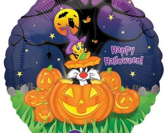 FAST SHIP 5 Tweety Silvester Halloween Balloons, Halloween Party Supplies, Halloween Balloons, Halloween Decorations, Kids Party Balloons
