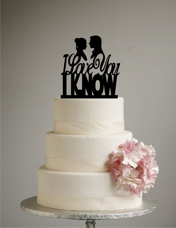 design your own wedding cake topper uk wars inspired wedding cake topper i you i 13491