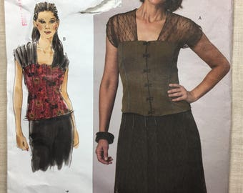 Vogue V1140, Semi-Fitted Top, Sandra Betzina, Today's Fit, Princess Seams, Cap Sleeves, Pattern, Sizes OSZ 32-55, uncut