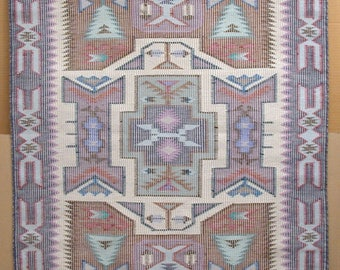 AMERICAN SOUTH-WEST, Navajo Nation. Original Hand-Woven Wool Rug. 59 1/2 x 35 1/4 inches.
