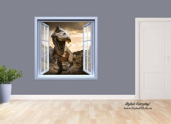 T-Rex Open Window Wall Decal by StylesofLife
