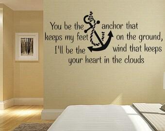 Wall Decal Sticker Bedroom anchor boy girl teenager teen kids room 067d
