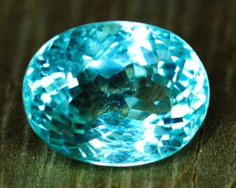 5.47 ct.  AA Neon light Blue  almost fawless Paraiba Tourmaline