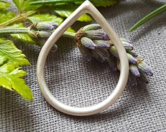 Teardrop Sterling Silver Ring