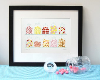 Sweeties - Silkscreen Print **SALE!**