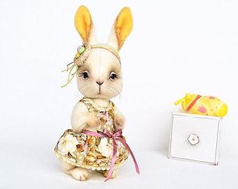 Artist bunny rabbit toy Easter bunny teddy Easter rabbit bunny teddy toy rabbit toy white rabbit stuffed animal toy plush bunny Easter decor