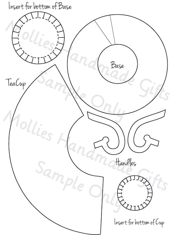 instant download teacup template