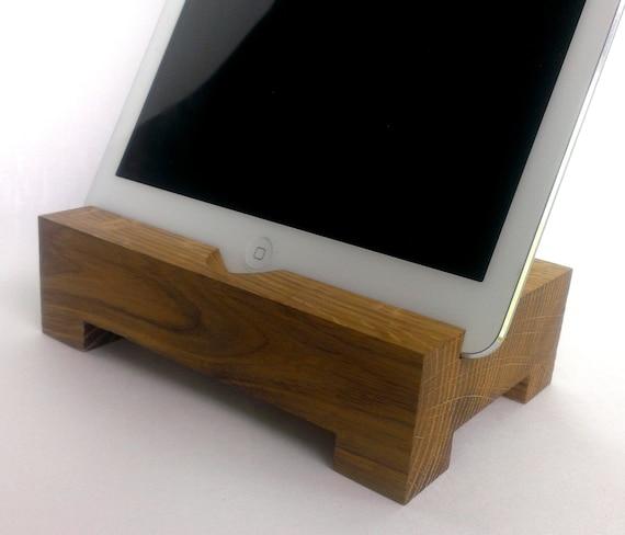 Ipad legno stand supporto da tavolo supporto in legno per - Porta ipad da tavolo ...