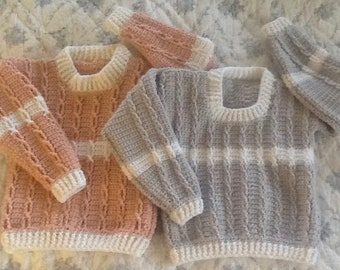 Ultimate In  Luxury. Warmth and Comfort in an Amazing Heirloom Handmade Crocheted Toddler Sweater