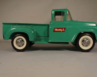 SALE! Rare 50s/60s Spring Suspension Whitewall Buddy L Stepside Pickup, Patents Applied For