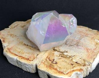 Angel Aura Quartz |  Angel Aura Crystal Point | Titanium Quartz Crystal | Opal Aura Quartz | Crystal Healing