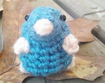 Mini Mole - amigurumi mole - crochet mole- miniature mole - Maulwurf - häkeln -  toy mole - English wildlife