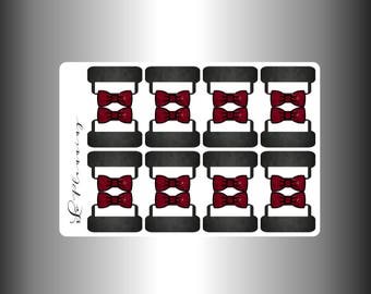 Bow Sticker Tabs (Black Background)