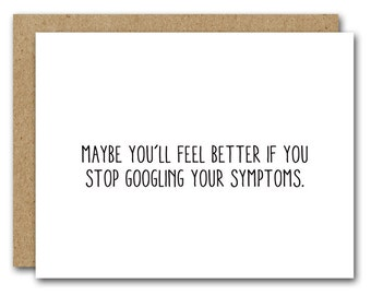Funny Get Well Card, INSTANT DOWNLOAD, Funny Get Well Card, Friend Get Well Card, Hope You're Feeling Better Card, Funny Sympathy Card