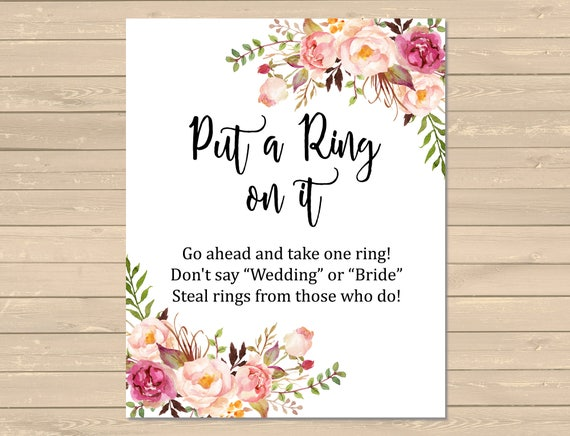 Crazy image throughout put a ring on it bridal shower game free printable