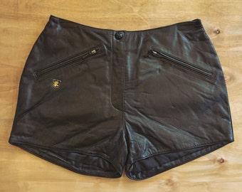 Harley Davidson vintage leather shorts