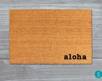 Aloha Doormat, Aloha Door Mat, Aloha Welcome Mat, Hawaii Doormat, Hawaii Door Mat, Hawaii Welcome Mat, Island Doormat, Hawaiian Door Mat