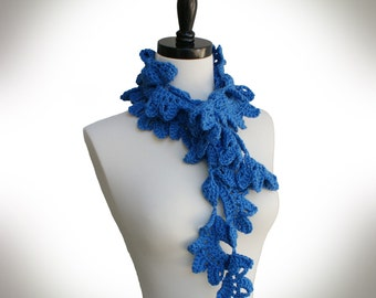 Crochet Pattern-- Glen Oaks Lacy Scarf --Crochet Pattern
