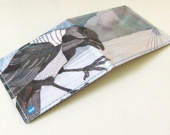 Wallet - Crow Wallet - Illustrated Wallet - Vinyl Wallet - Billfold - Illustrated Wallet - Crow Crow
