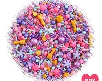 Sprinklefetti Boho Sprinkles Mix, Boho Party Sprinkles, Arrow Sprinkles, Pink Sprinkles, Gold Sprinkles, Purple Sprinkles, Edible Sprinkles