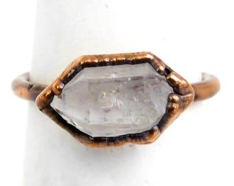 Made to Order - Tibetan Quartz Ring Electroformed Quartz Copper Plated Copper Ring Crystal Ring Copper Plated Ring Electroformed Ring