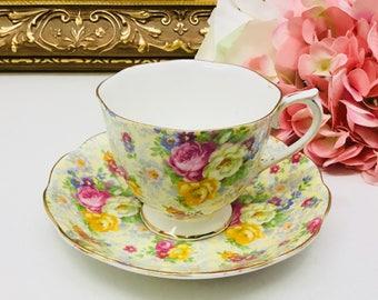 Royal Albert chintz teacup and saucer