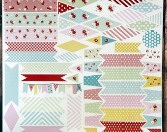 bunting and banner stickers