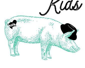 KIDS Francis Bacon pig tee